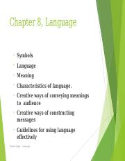 Chapter 8, Language, New Book