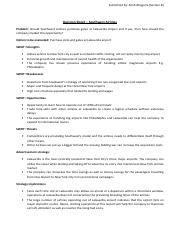 Decision Sheet - Southwest Airlines - Ankit Bhageria (2012).pdf