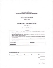 ECE462 Winter Exam2003