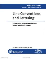 ASME - Line Conventions and Lettering