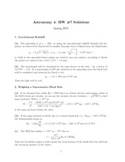 HW#7, Solutions
