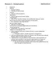 Globalization notes (module 1)