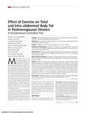 Effects of Exercise on Total and Intra-abdominal Body Fat in Postmenopausal Women