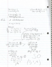 Intermediate Algebra Solving with Substittution and Elimination