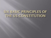 Six basic principles of the US Constitution