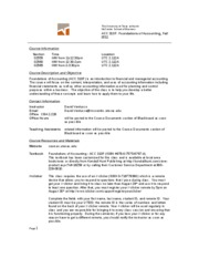 Syllabus ACC 310F Fall 2011