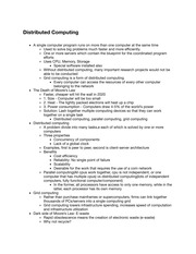TC201 Distributed Computing Notes