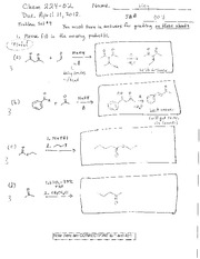 Problem Set 4 Key on Carbonyl Chemistry
