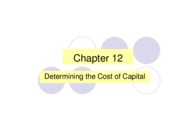 Ch 12 Cost of capital