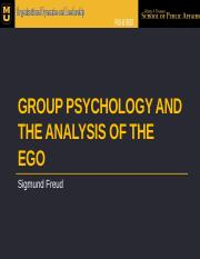 PA8160 5T 2014 W1 Group Psychology and the Analysis of the Ego.pptx