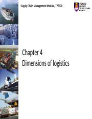 Chapter 4 Dimensions of logistics
