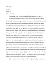 Essay On English Language  Pages Hunger Games Essay  Final Draft Essay On Paper also Health And Wellness Essay Hunger Games Essay Assignment   Juline Deppen Dr Fisk English   Descriptive Essay Topics For High School Students