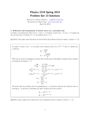 PHYS 2214 Homework 13 Solutions