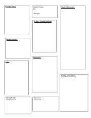 concept map template pathophysiology student nurse id physical
