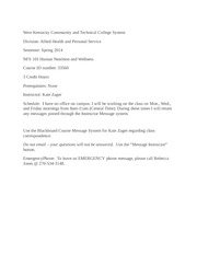 NFS 101 Syllabus West Kentucky Community and Technical College System (3)