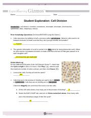 GIZMO - Cell Division - Student Page.docx - Name donil ...
