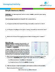 Student Exploration- Simple Harmonic Motion (ANSWER KEY ...