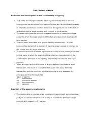 1314086328THE LAW OF AGENCY (Autosaved).docx