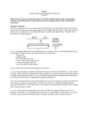 Exam 1 Solutions Fall 2013