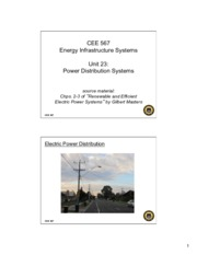 Lecture23 Power Distribution Systems for Energy Infrastructual system