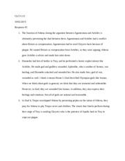 clcv 115 essay exam 2009