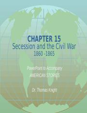 1301 Chapter 15 Secession and the Civil War PPT December 2016