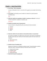 ANSWER KEY - Chapter 1 - Exam Prep Activity