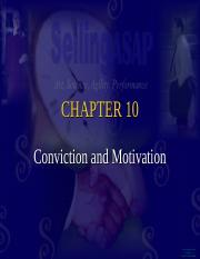conviction and motivation