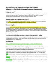 principles of hrm