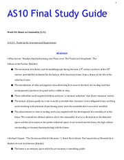 AMERSTD C10 Final Review Study Guide