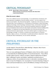 CRITICAL PSYCHOLOGY IN THE PHILIPPINES v4Feb10-2012