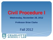 Sec 1 (6) -- Discovery Enforcement and Dispositive Motions -- Civ Pro I (F12)