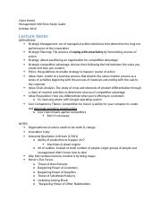 Managment Study Guide Mid-Term