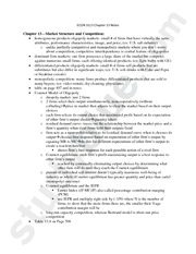 ECON 3113 Chapter 13 Notes