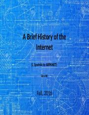2. A Brief History of the Internet