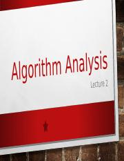 Lecture 2 Algorithm Analysis.ppt