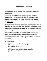 Plant Secondary Metabolites - Ch. 10.docx