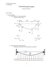 CVE 3015 Structural Analysis -Exam 2 review.pdf