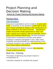 Project Planning and Decision Making Discussion.docx