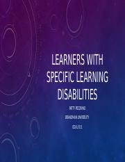 Learners With Specific learning disabilities.pptx