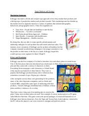 Kellogg Target Markets and Strategy (Final).docx