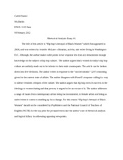 logical fallacy study resources 4 pages essay 1 rhetorical analysis