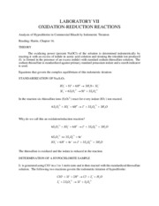 chm OXIDATION-REDUCTION REACTIONS
