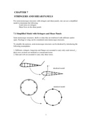 Chapter 7_Stringers and Shear Panels