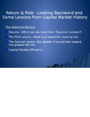 FINA 3320 Capital Market History Risk and Return Notes 2