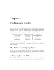 Ch 3 Notes - Contingency Tables
