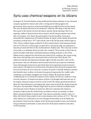syria chemical weapons.docx