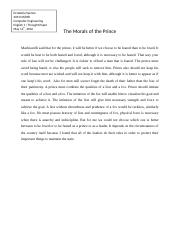The Morals of The Prince Thought Paper.docx
