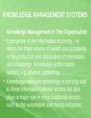 6a -KNOWLEDGE MANAGEMENT SYSTEMS6