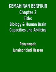 Chapter Three Brain Function